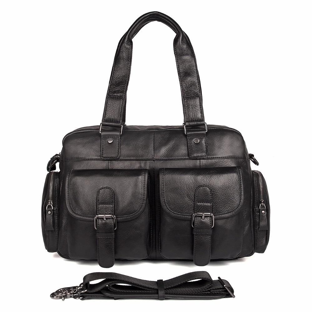 JMD 100% Cow Leather Mens Handbag Classic Solid Black Laptop Bag Hot Selling Shoulder Bag Fits Book 7381AJMD 100% Cow Leather Mens Handbag Classic Solid Black Laptop Bag Hot Selling Shoulder Bag Fits Book 7381A