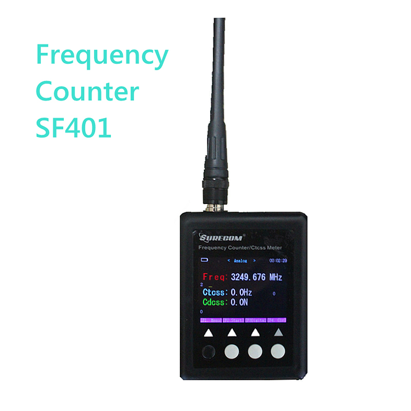 NEW Version Portable Frequency Counter SF401 Plus 27Mhz 3Ghz CTCSS CDCSS TESTER