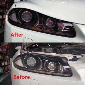 Image 4 - 2019 PU Protection Film For Headlights Tail Lights Smoke Fog Lights Film Car Light Headlight film Sheet Car Sticker dark lamp