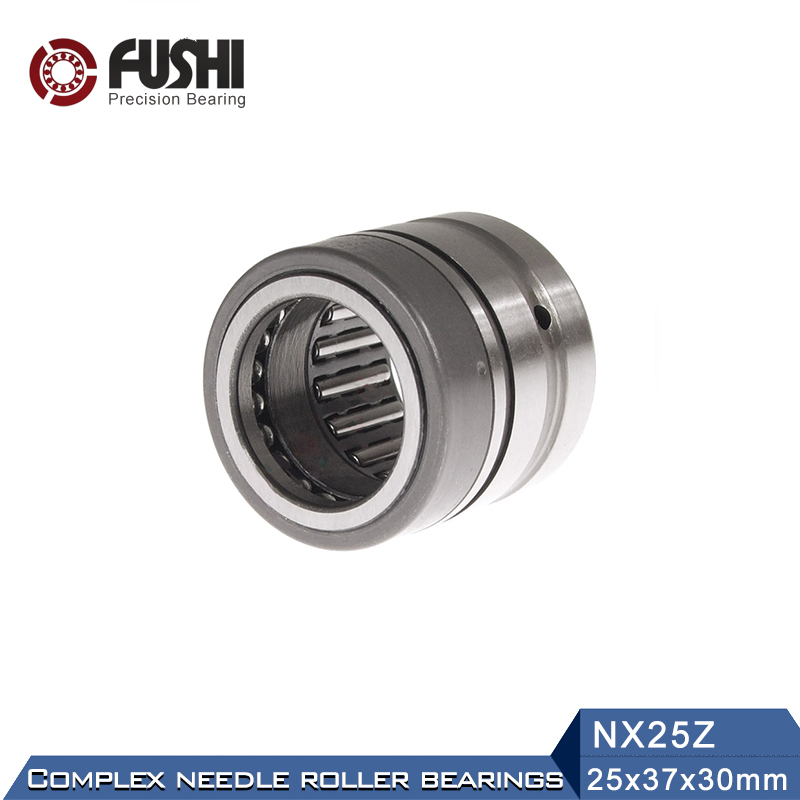 NX25Z Combined Bearings 25*37*30mm ( 1 PC) Needle Roller Full Complement Thrust Ball Bearing NX25 Z f2522 full complement needle roller bearings 942 25 the size of 25 32 22mm