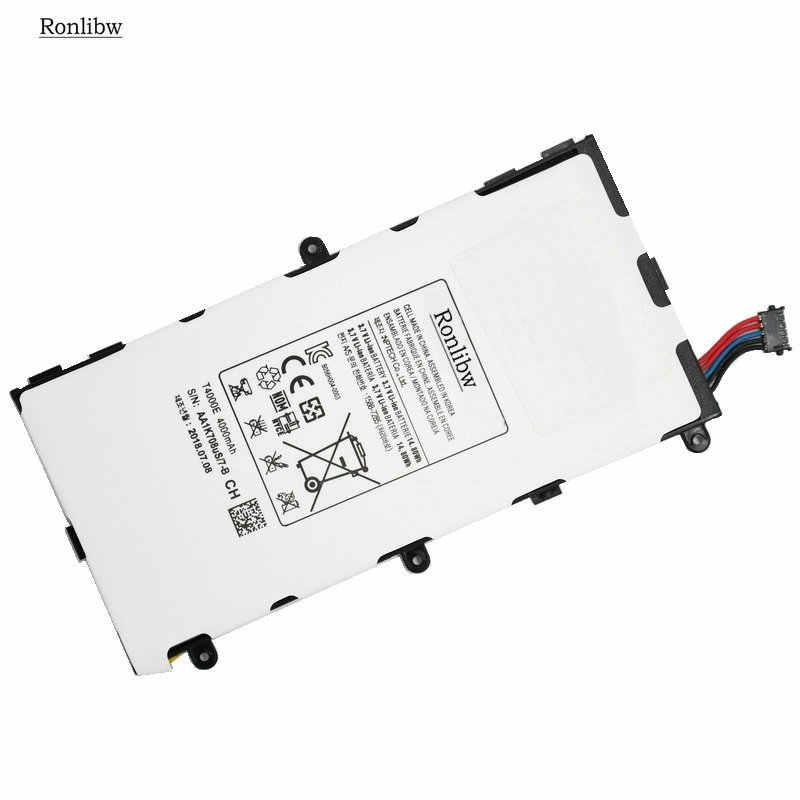 Ronlibw T4000E 4000 MAh Baterai Pengganti untuk Samsung Galaxy Tab Tablet 3 7.0 T211 P3210 P3200 T210 T215 T210R SM-T210R t2105