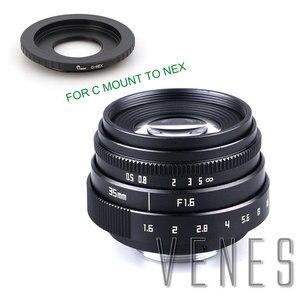 Image 5 - VENES Mini 35mm f/1.6 APS C TV Lens + C Anel Macro para câmera adaptador para Micro 4/3 /para Pentax Q OM DE M10 II E M5 IIE M1 E M5