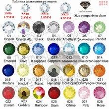 Все размеры+ все цвета горячей фиксации FlatBack стразы аппликация страз железо на кристалл для одежды свадебное платье Швейные аксессуары