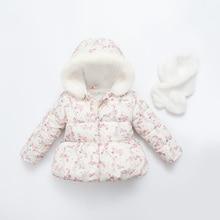 Зимние куртки для девочек 2016 Новых Детей пальто для девочек Дети верхняя одежда пальто Зимняя одежда для девочек детская одежда