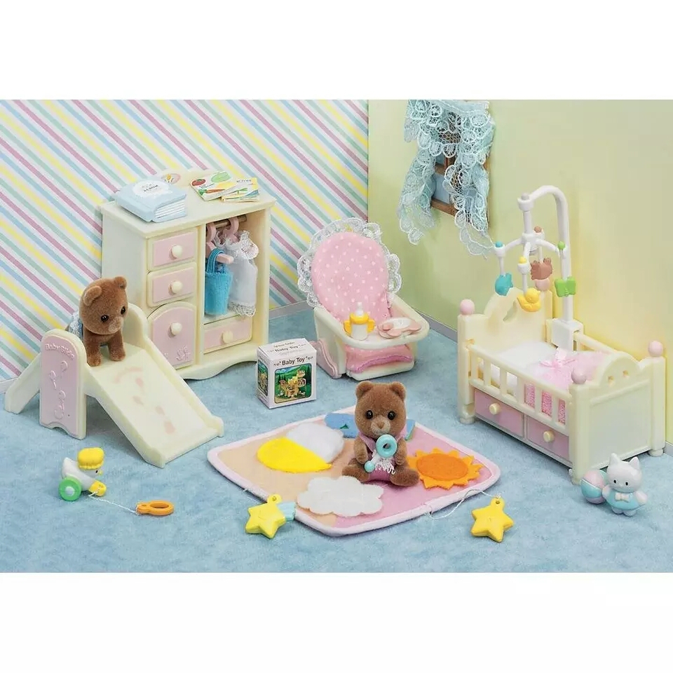 1set 15cm Sylvanian families kids play room toy japan play house with no plush flocking Sylvan family action figure doll d11 nad sylvan nad sylvan the bride said no 2 lp