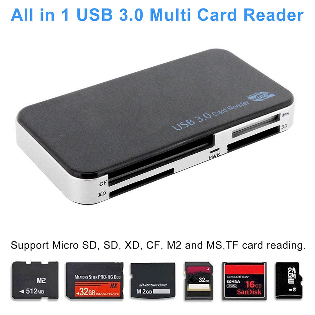 New Hot Universal Memory Card Reader USB 3.0 All In 1 Compact Flash CF Adapter Micro SD MS XD 5Gbps Multi-function Cards Readers