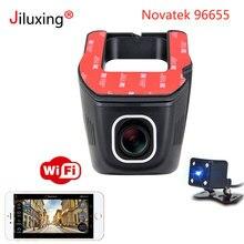 цена на Novatek 96655 Car DVR WIFI 1080P Double lens Car mini Camera rearview mirror night vision Registrator Dashcam Recorder Camcorder