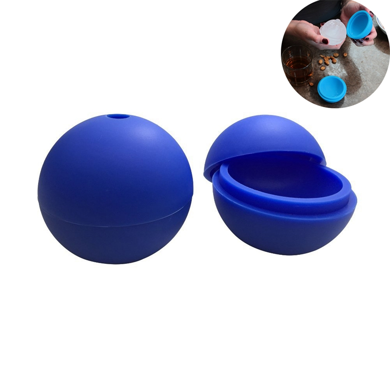 1PCS Dia 6Cm Whiskey Large Ice Sphere Silicone Mold Round Ice Ball Maker Big Silicone Cube Ball Form For Ice Cream Maker