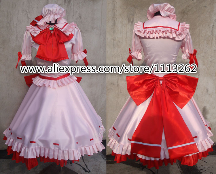 Free Shipping Touhou Project Remilia Scarlet Delux Cosplay Costume Custom Made for Christmas customized any size