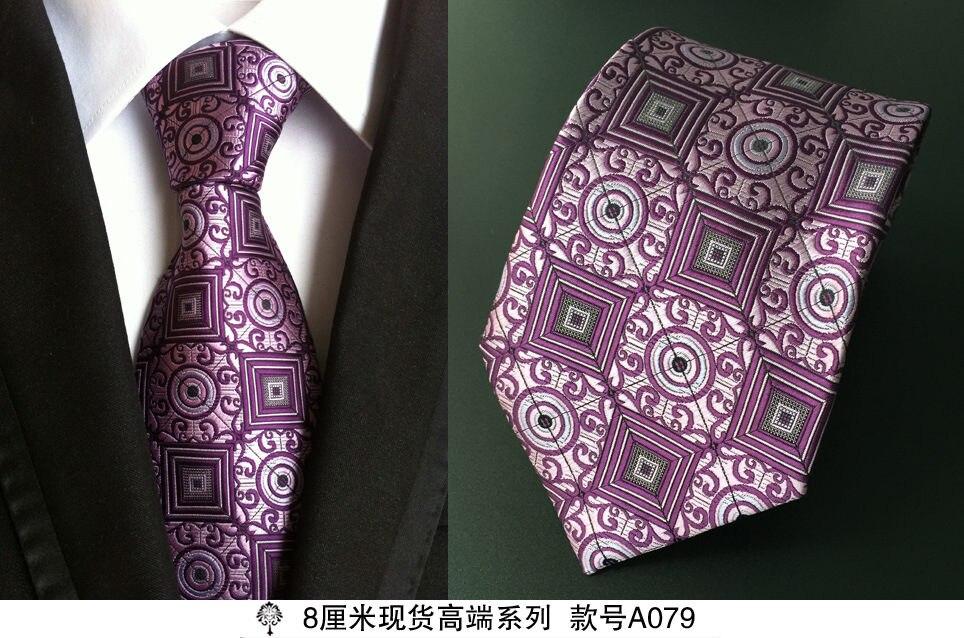 8 cm dasi leher untuk pria mewah 100% sutra mens dasi 8 cm corbata - Aksesori pakaian - Foto 2