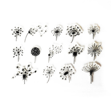Beautiful Dandelions Transparent Clear Stamps for Scrapbooking DIY Silicone Seal Photo Album Embossing Folder Paper Decoration
