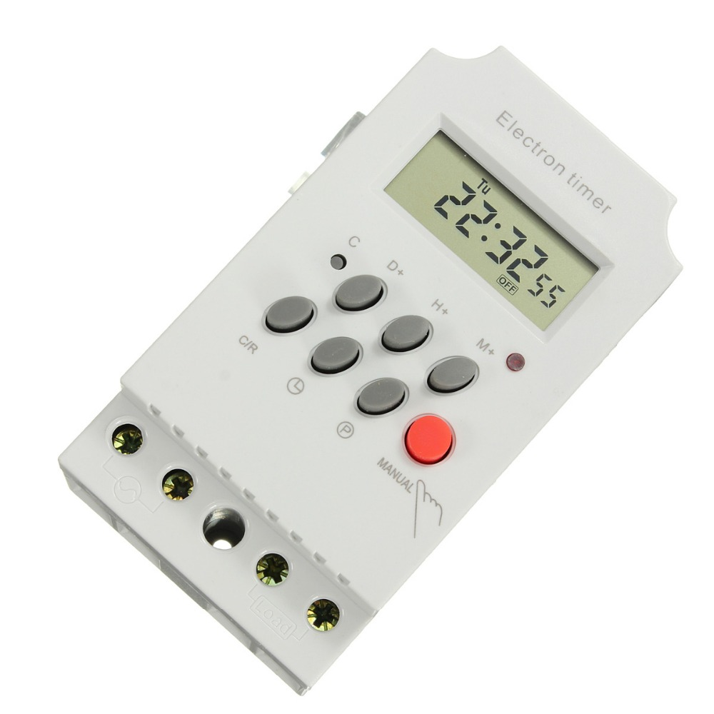Tools Kg316t-ii 220v 25a Din Rail Lcd Digital Programmable Electronic Timer Switch Digital Timer Controller Measurement & Analysis Instruments