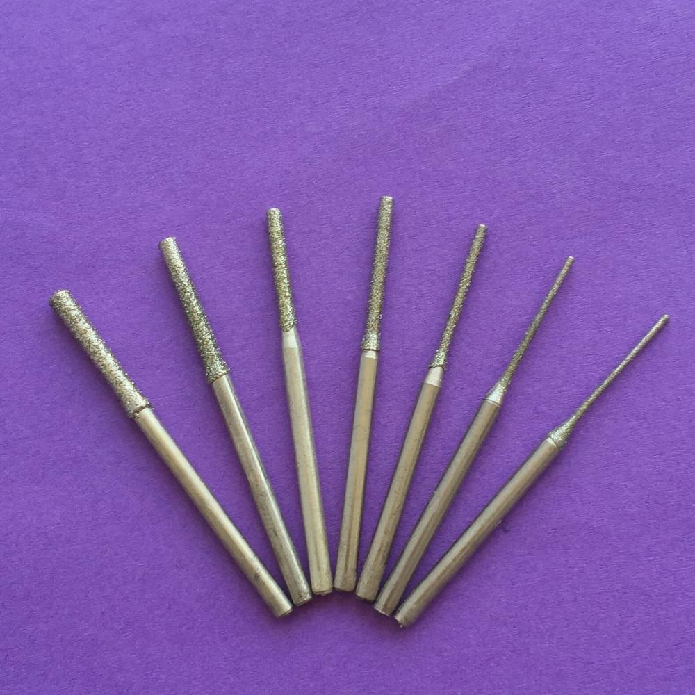 7 pz K299Y 0.8-2.5mm Giada cristallo punzonatura ago grado punzonatura ago strumenti fai da te
