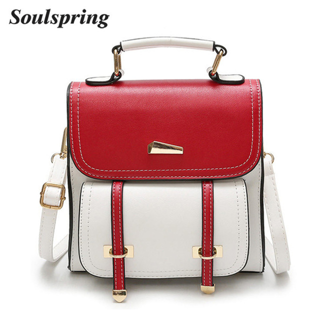 New 2018 Retro Mini Backpack Women Backpacks Panelled Vintage Girls School  Bags for Girls PU Leather Women Backpack Famous Brand 4675e7893f26d