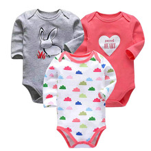 3 pcs/ set Tender Babiesnewborn bodysuit baby babies bebes clothes long sleeve cotton printing infant clothing 0-24 Months все цены