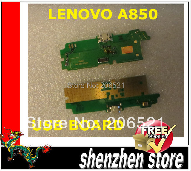 LENOVO A850 New charge plug for A850 original authentic board usb + Microphone Free shipping Airmail  + tracking code