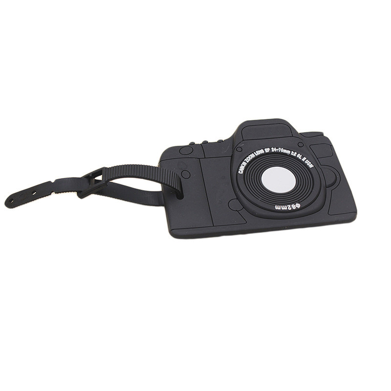 Top Sale Camera Shape Luggage Tag Quality Secure Small Luggage Label Travel Suitcase Portable Accessories Information Horder ...