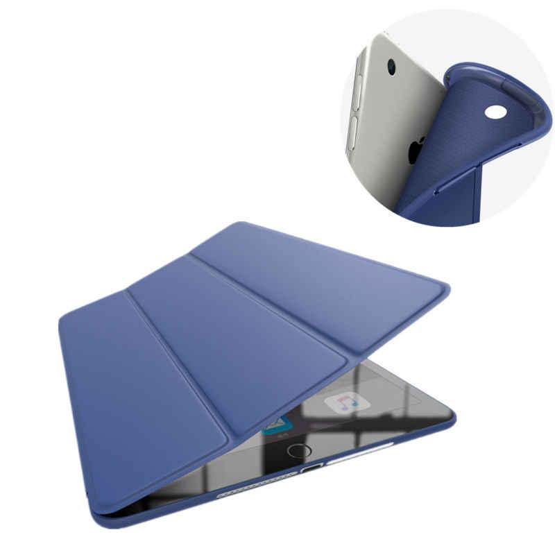 Leather Case Voor Nieuwe iPad 9.7 2017 Ultra Thin Slim Smart Cover Case Voor Nieuwe iPad 9.7 2018 Soft Case silicon Cases protector