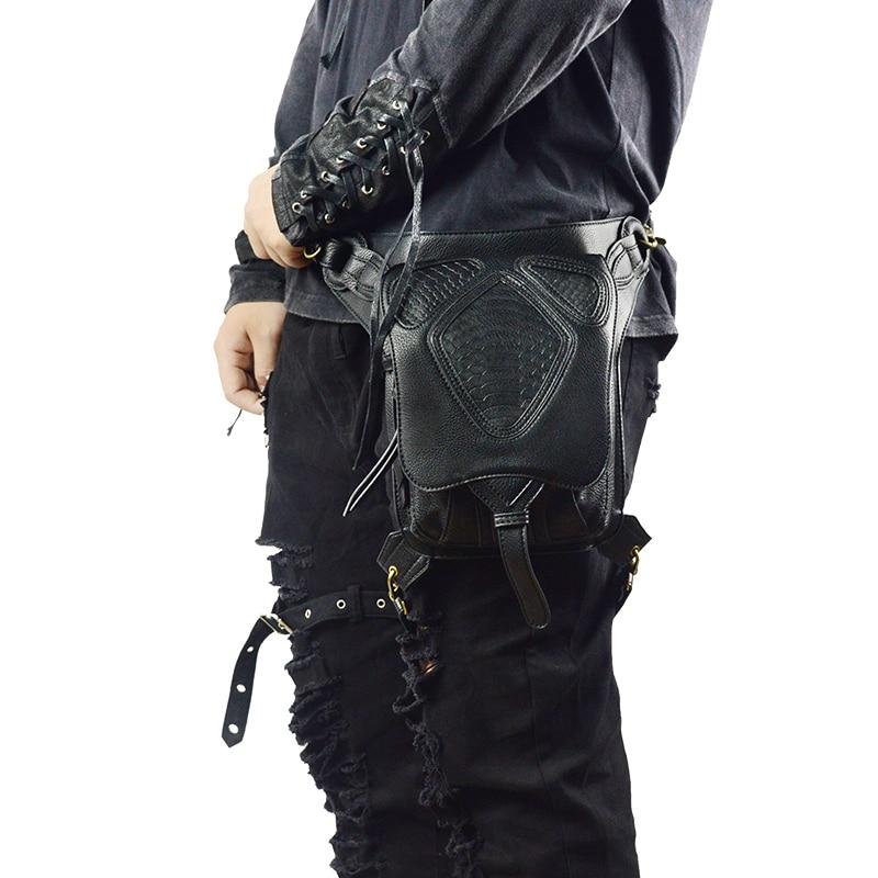 Punk do Vapor Bolsas de Cintura Multi-função de Mensageiro Pochete Bolsas Patchwork Rosca Padrão Unisex Mulheres Homens Gothic Crossbody