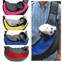 Pet Carrier Gatto Cucciolo Piccoli Animali Dog Carrier Sling Anteriore Mesh Travel Tote Shoulder Bag Zaino Pet Ciotola Silicone Opzionale SL