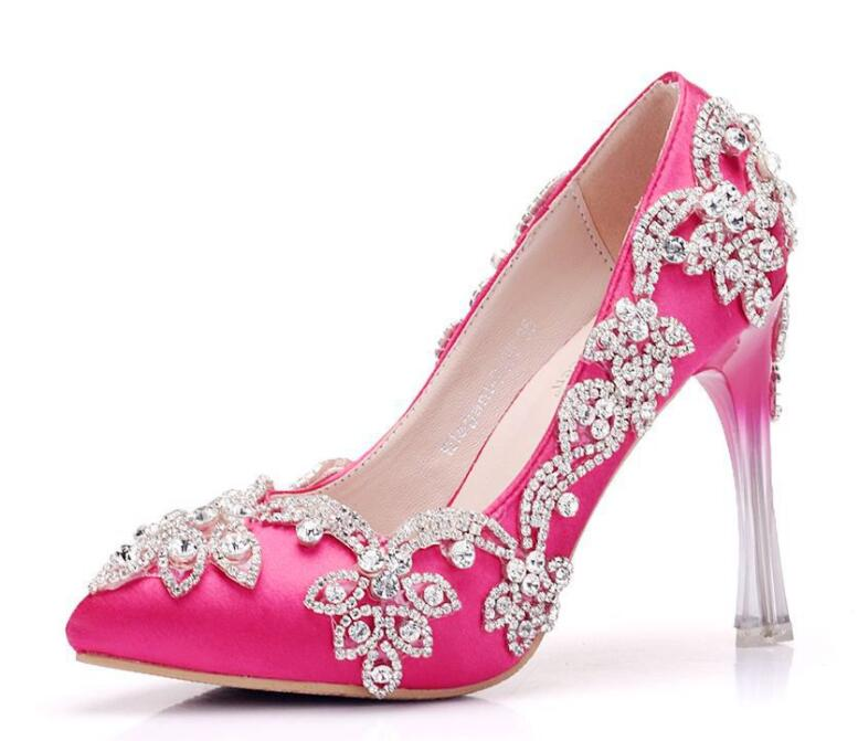 2019 new arriver lace pearls wedding shoes bride fashion handmade plus size slip on lace red