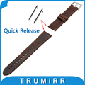 20 мм Натуральная Кожа Часы Ремешок Quick Release Ремешок для Samsung передач S2 Классический SM-R732/3 Г Классический R735 Запястье Браслет коричневый