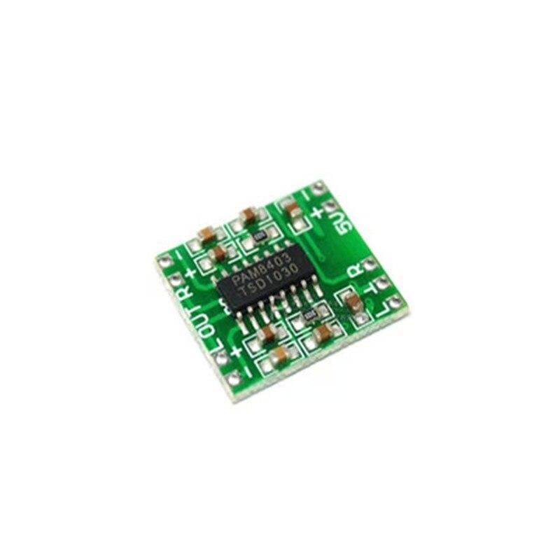 5pcs PAM8403 Super mini digital amplifier board 2 * 3W Class D digital amplifier board efficient 2.5 to 5V USB power supply