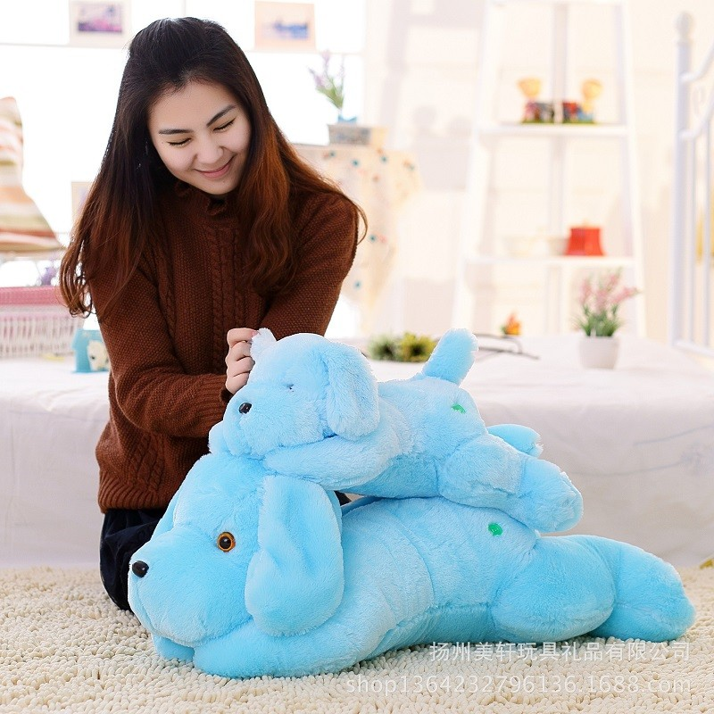 New Year 50CM and  80CM  Length Creative Night Light LED Lovely Dog Stuffed and Plush Toys Best Gifts for Kids and Friends  (4)