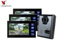 Yobang Security 7″ touch Video door bell camera monitor doorphone for villa doorbell IR Camera Monitor Night Vision