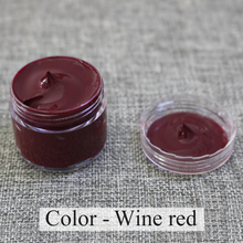 wine red - Leather coloring paste,leather bag,sofa, shoe,clothing,refurbished to change color, handsel a sponge rub and gloves