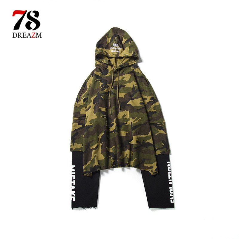 Hoodies Men Striped Hood High Street Pullover Cotton Fashion Hip Hop Streetwear Casual Pocket Hoodie Autumn