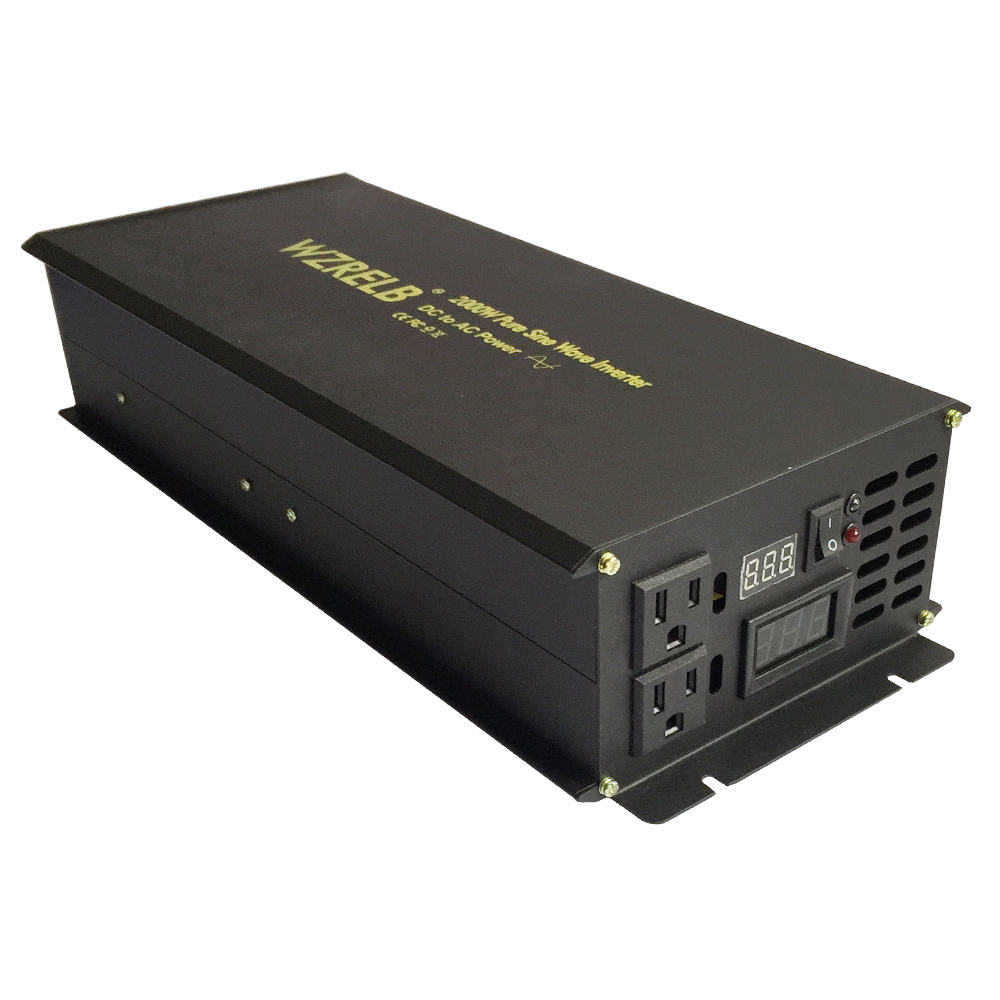 2000Watt Pure Sine Wave Solar Inverter 12V to 220V Converter Car Power Inverter Power Supply 12V 24V 48V DC to 120V 230V 240V AC 2000w car power inverter 12v 220v pure sine wave solar inverter voltage regulator 24v 48v dc to 120v 230v 240v ac