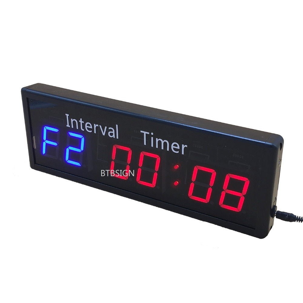 Gym Sport Crossfit Interval Timer Stopwatch Wall Clock With Remote For Fitness