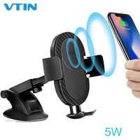2-in-1 Wireless Charging Halterung Auto Handy Halter Stehen 5 W/10 W Intelligente Lade Dock station Halterung Auto Halterung für iPhone