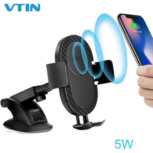 2-in-1 Wireless Charging Bracket Car Phone Holder Stand 5W/10W Smart Dock Station Mount for iPhone