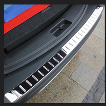 new Stainless steel Rear Bumper Sill/Protector Plate cover inner+outer 2pcs for 2013-2015 Accord 9