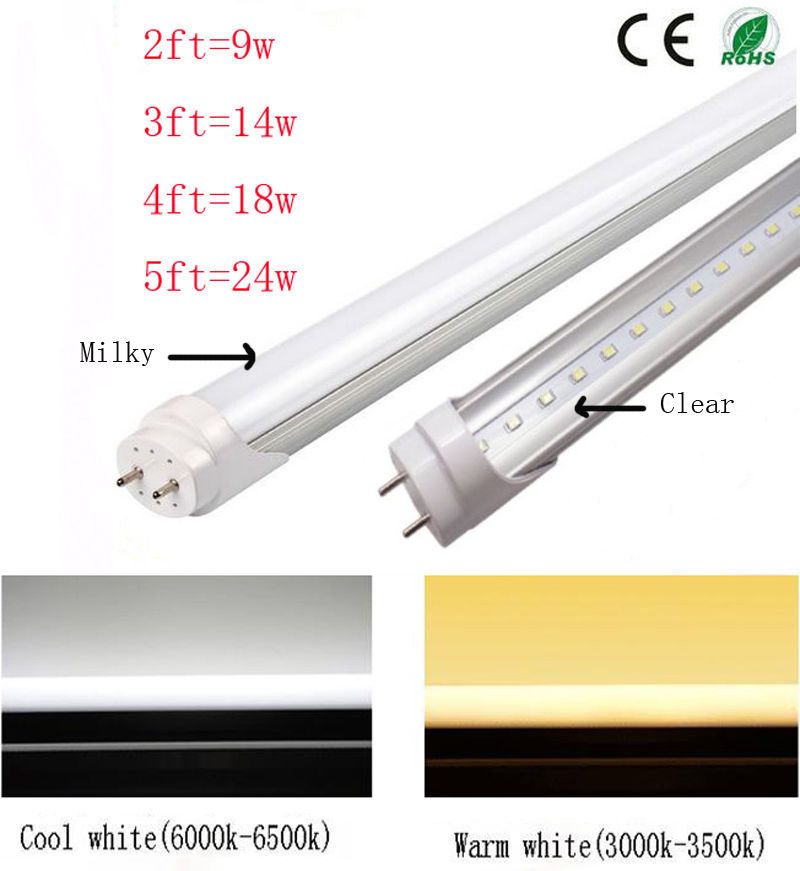 Hot 2/3/4/5/FT T8 LED Tube Bulb Fluorescent Replacement Lamp US ...
