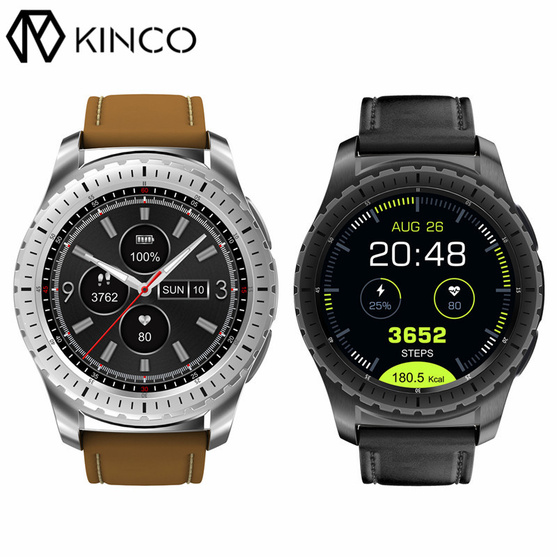 KINCO 1.3inch IPS LCD MTK2502 Heart Rate Sleep Monitor Bluetooth Music Calories Sport Pedometer Smart Watch for IOS/Android microwear l1 smartwatch phone mtk2503 1 3 inch bluetooth smart watch gps heart rate measurement pedometer sleep monitor