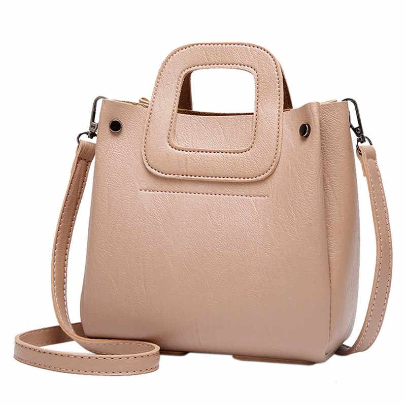3478a94cef8 ... Vintage Fashion Small Women Leather Bucket Bag Handbag Shoulder  Messenger Bags Purses Big Capacity Ladies Tote ...