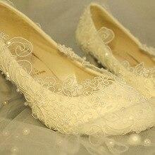 Freies Verschiffen Spitze Hochzeit Brautkleid Schuhe Ultra Luxuriöse Weiß Oberen Perlen Hochzeitsgeschenk Mode Tanzen Partei Schuhe