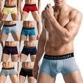 Comfy sexy mens underwear boxer shorts bulge bolsa calzoncillos suave l-xxxl 8 colores