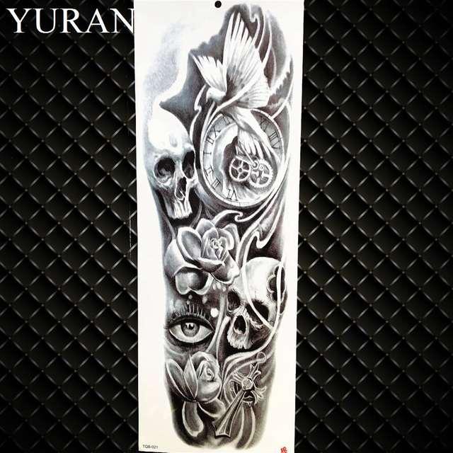 Us 168 Czarny Zegar Oczu Woda Do Transferu Tatuaż Kościół Kobiety Pełne Nogi Sztuka Słońce Tymczasowa Naklejka Tatuaż Sexy Mężczyźni Na Ramię Flash