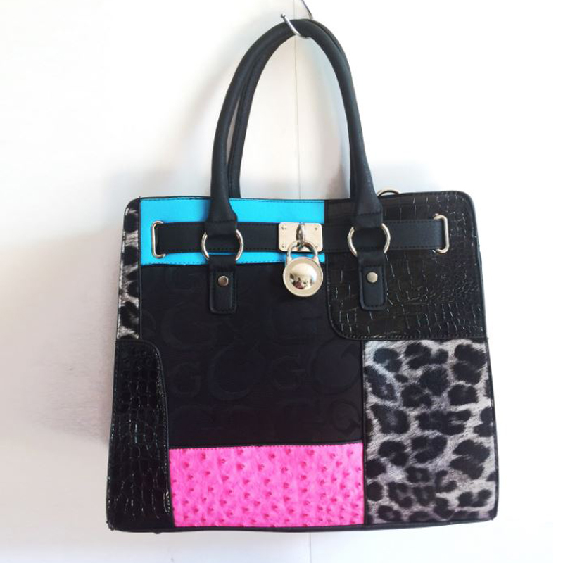 a1f7748dbd YESIKIMI Women Handbags Alligator Leopard Patchwork Letter G Purse Quality  PU Leather Lock Bag Brand Design Saffiano Bag Gift-in Top-Handle Bags from  ...