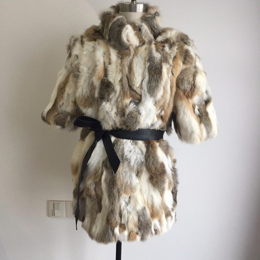 Veste 2018 Manteau Lapin skyblue Grassgrey blue Chaud Outwear Ah301 Chaude yellowgrass Hiver Mode Nouvelle pinkgrey black Fourrure Nature Réel De Vente Femmes pq1wxpX8rn