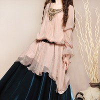 LYNETTE S CHINOISERIE BOSHOW Autumn Spring New Original Design Women Vintage Royal Style Loose Long
