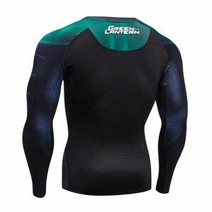 Image 4 - Мужская компрессионная рубашка, сезон осень зима 2016, дышащая сетчатая одежда для фитнеса, брендовая одежда для мужчин, быстросохнущая 3d рубашка для мужчин