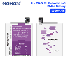 NOHON 3.85V 4050mAh BM46 Lithium Li-ion Battery Rechargeable Phone Replacement For Xiaomi Redmi Note 3/Note 3 Pro