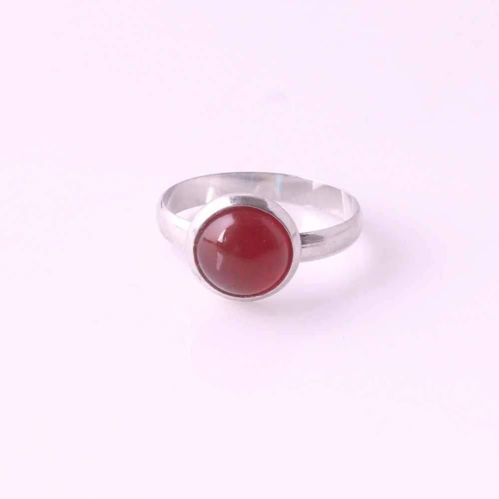 Druzy เส้นผ่านศูนย์กลาง 8 มม. สุ่มผสมบาท jades & Tiger eyes หินธรรมชาติแหวนผู้หญิงควอตซ์แหวนคริสตัลขายส่ง