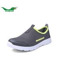 LANTI KAST Men Running Shoes New Arrival Air Mesh Slip On Sport Shoes Men Breathable Light