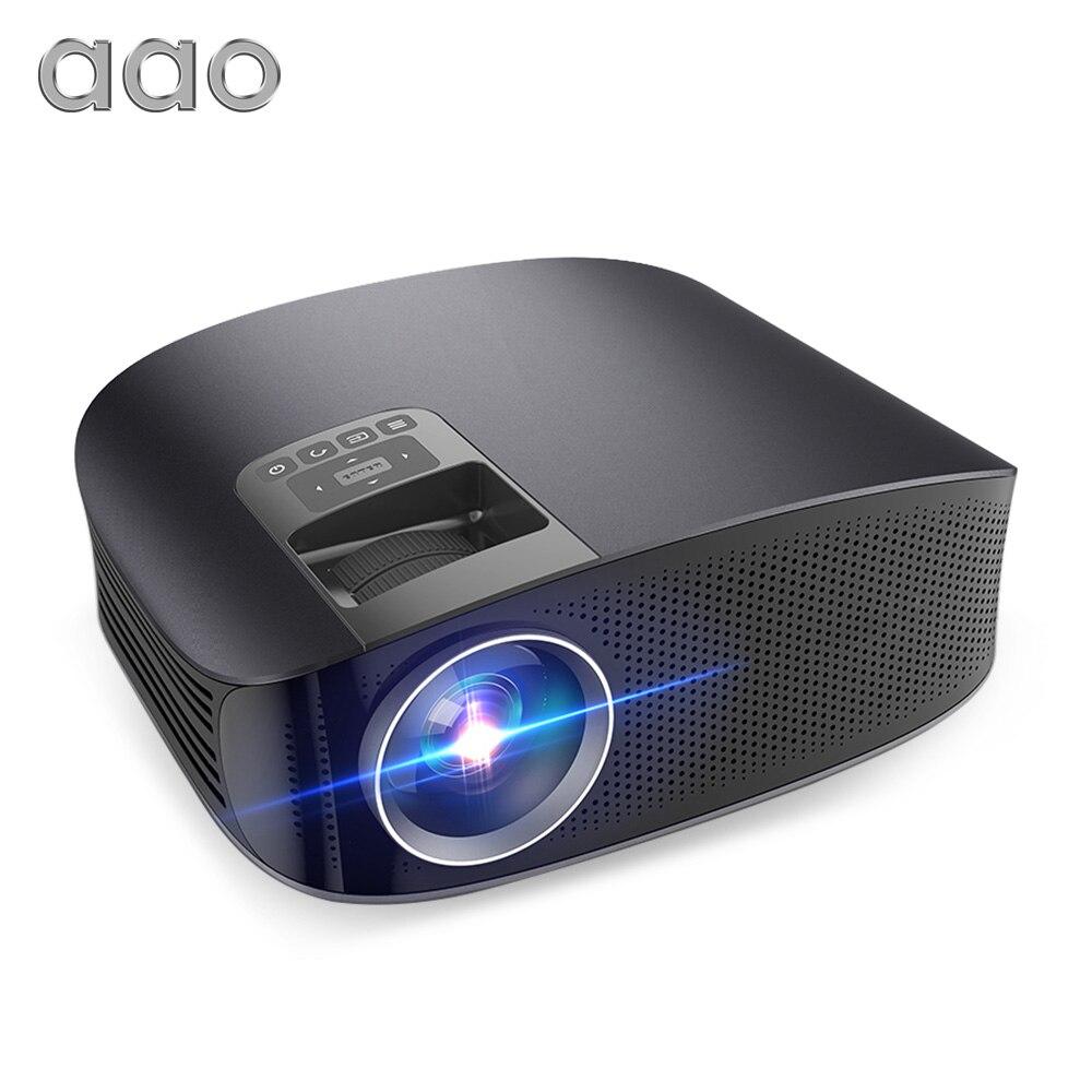 Aao Yg500 Update Yg600 Yg610 Proyektor Penuh Hd 1080 P 3600 Lumens Umpan Pancing Soft Tiddler Luminous Gid Multimedia Led 3d Video Beamer Theater